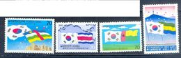 S99- Stamps Of Korea. Flag. Gabon.  Central African. Costa Rica. Guinea-Bissau. - Korea, North