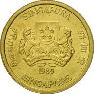 Singapour, 5 Cents, 1989, British Royal Mint, SUP, Aluminum-Bronze, KM:50 - Singapore