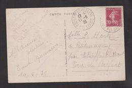 FRANCE / 1924 / Y&T N° 190 : Semeuse Camée 20c Lilas-brun - Sur CP Du 11/08/1935 Le Salève - Haute Savoie - Observatoire - 1921-1960: Modern Period
