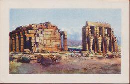 Egypte Egypt Ägypten Egipto Egitto Luxor Thebe Thebes Rammasseum Edicione D'Arte Astro Italia Illustrator Illustrateur - Luxor
