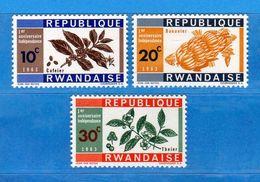 (MN1) RWANDA **- 1963 -  YVERT. 24-25-26 .  MNH.   Vedi Descrizione - Rwanda