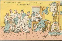Militaria - Scènes De Caserne -  AuMagasin De La Compagnie   19 - Autres Illustrateurs