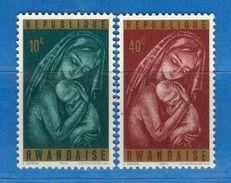 (MN1) RWANDA **- 1965 -  YVERT. 128-129 .  MNH.   Vedi Descrizione - Rwanda