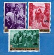 (MN1) RWANDA **- 1967 -  YVERT. 205-206-207 .  MNH.   Vedi Descrizione - Rwanda