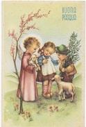 BUONA PASQUA - BAMBINI CON AGNELLI -  EDIZ. PMCA # 135/4 - NUOVA NV - Pasqua