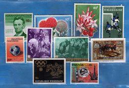 (MN1) RWANDA **- 1965-1966-1967-1972 - Lotticino .  MNH.   Vedi Descrizione - Rwanda