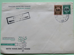 Israel 1960 Special Cover - Planting Tree Centre For Tourists - Israël