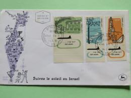 Israel 1961 FDC Cover - Planes - Map - Israël