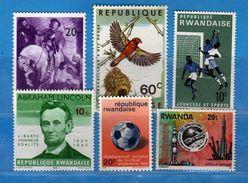 (MN1) RWANDA **- 1965-1966-1967-1976 - Lotticino .  MNH.   Vedi Descrizione - Rwanda