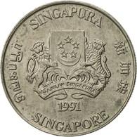 Singapour, 20 Cents, 1991, British Royal Mint, SUP, Copper-nickel, KM:52 - Singapore