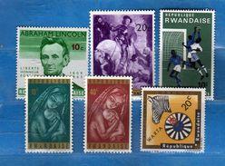 (MN1) RWANDA **- 1965-1966-1967 - Lotticino .  MNH.   Vedi Descrizione - Rwanda