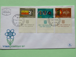 Israel 1964 FDC Cover - Technology - Macromolecules  - Terrestrial Spectroscopy - Electronic Computer - Israel