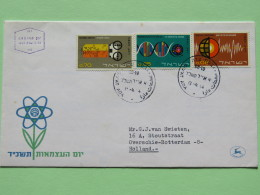 Israel 1964 FDC Cover To Holland - Technology - Macromolecules  - Terrestrial Spectroscopy - Electronic Computer - Israel