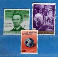 (MN1) RWANDA **- 1965-1966-1967 -  YVERT. 92-173-205 .  MNH.   Vedi Descrizione - Rwanda