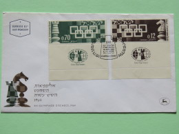 Israel 1964 FDC Cover - Chess Game Olympiad - Israel