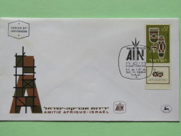 Israel 1964 FDC Cover - Africa - Israel Friendship - Music Instruments - Drums - Israël