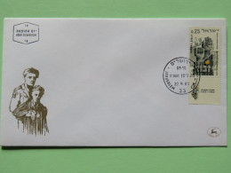 Israel 1965 FDC Cover - Hands - Liberation Of Nazi Concentration Camps - World War II - Israel