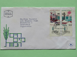 Israel 1965 FDC Cover To Yugoslavia - Dead Sea Chemical Industry - Cranes - Israel