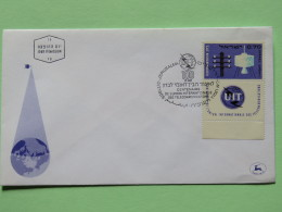 Israel 1965 FDC Cover - Telegraph Pole And Satellite - UIT - Israël