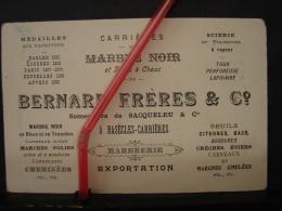 PAD. 206. Ancienne Carte De Visite Publicitaire Des Carrières Bernard Frères & Cie à Basècles - Tarjetas De Visita