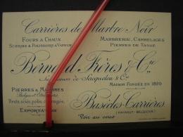 PAD. 207. Ancienne Carte De Visite Publicitaire Des Carrières Bernard Frères & Cie à Basècles - Tarjetas De Visita