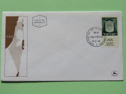 Israel 1965 FDC Cover - Tribes Arms - Map - Israel