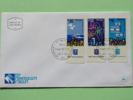 Israel 1966 FDC Cover - State Of Israel 18 Anniv. - Planes Firesworks Flags - Israel