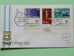 Israel 1967 FDC Cover - Victory Of The Israel Forces - Ship Flag - Wailing Wall - Israel