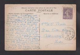 FRANCE / 1927 / Y&T N° 236 : Semeuse Fond Plein 40c Violet - Sur CP (LA SEYNE SUR MER) Du 25/03/1929 - 1921-1960: Modern Period