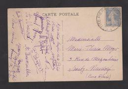 FRANCE / 1927 / Y&T N° 237 : Semeuse Fond Plein 40c Outremer - Sur CP (Ferme D'Imsthal LA PETITE PIERRE) - Marcophilie (Lettres)