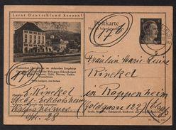 ALLEMAGNE - III REICH - OBERSCHLEMA / 1944 ENTIER POSTAL ILLUSTRE POUR L ALSACE (ref LE1527) - Allemagne