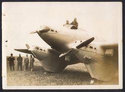 """PHOTO AVIATION 13 X 18 - COUZINET 10 """"ARC EN CIEL"""" - 1928 - Pilote DROUHIN - Aviation"""