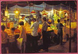 Collection/Singapore (UNC) Old 1970s  NIGHT Fruit MARKET - Le Marché - KRUGER 88 - S Abdul Majeed+CO Nr. 025.126 - Cpc - Singapore