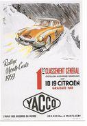 PUBLICITE (HUILE YACCO) AVEC VOITURE CITRÖEN DS ID 19 NEUVE ET A LIRE - Advertising