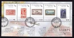 New Zealand 2005 150 Years Of Stamps 1905-1955 Minisheet Used - New Zealand
