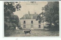 28 TREON Le Château ,vaches Au Paturage Devant - Other Municipalities