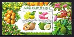 Cocos Islands 2017 Garden Fruits Minisheet MNH - Cocos (Keeling) Islands