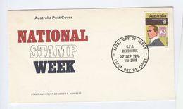 1976 AUSTRALIA FDC Stamp Week STAMP ON STAMPS KANGAROO Cover - FDC