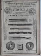 PUB 1889 - OUTILLAGE Précision Rue Des Olivettes Nantes 44, Dragues Et EXCAVATEURS à Lyon 69, MECANIQUE à Nantes 44 - Publicités