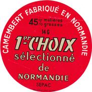 ETIQUETTE  DE CAMEMBERT TABARD AUDRIEU 14 G  SEPAC - Cheese