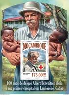 MOZAMBIQUE 2013 SHEET ALBERT SCHWEITZER RED CROSS CRUZ ROJA CROIX ROUGE Moz13503b - Mozambique