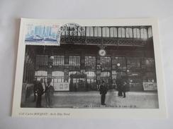Intérieur De La Gare De Lille Cachet Lille Et Le Chemin De Fer Timbre N° 2811 - Lille