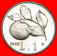 § ORANGE: ITALY ★ 1 LIRA 1949R MINT LUSTER SCARCE! LOW START★ NO RESERVE! - 1946-… : République