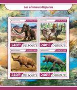 DJIBOUTI 2017 - Extinct Animals, Megacerops. Official Issue. - Rhinozerosse
