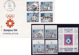 Jugoslawien 1982/84 Olymp. Winterspiele 1984. Satz - Blocks & Kleinbögen