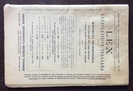 LEX LEGISLAZIONE ITALIANA   N. 15 DEL 1962 - Società, Politica, Economia