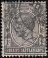 STRAITS SETTLEMENTS - Scott #150 King George V (*) / Used Stamp - Great Britain (former Colonies & Protectorates)
