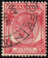 STRAITS SETTLEMENTS - Scott #222 King George V / Used Stamp - Great Britain (former Colonies & Protectorates)