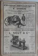 PUB 1889 - PIPPERMINT Par Get Fres à Revel 31, PETRINS Mécaniques à Anor 59 Nord, POMPES Rue De Wazemmes Lille 59 Nord - Advertising