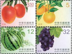2017 Taiwan Fruit Stamps (III)  Mango Orange Watermelon Grape Post - Agriculture